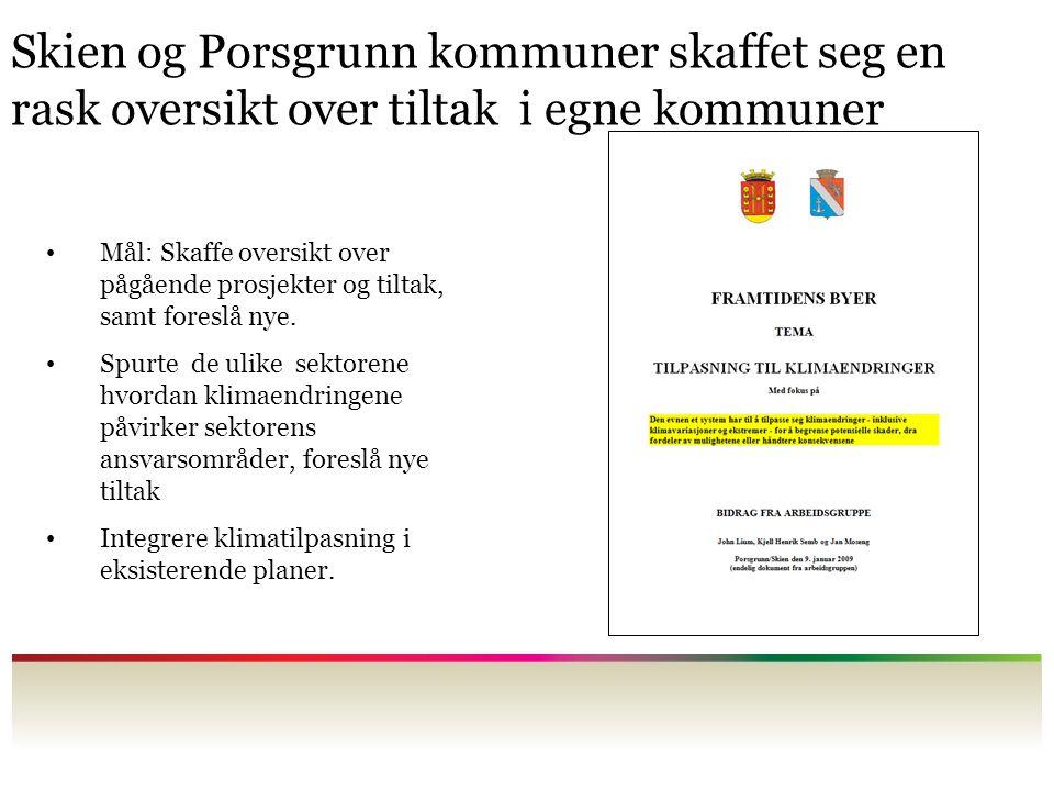 Skien og Porsgrunn kommuner skaffet seg en rask oversikt over tiltak i egne kommuner