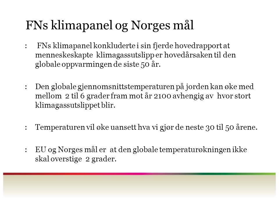FNs klimapanel og Norges mål
