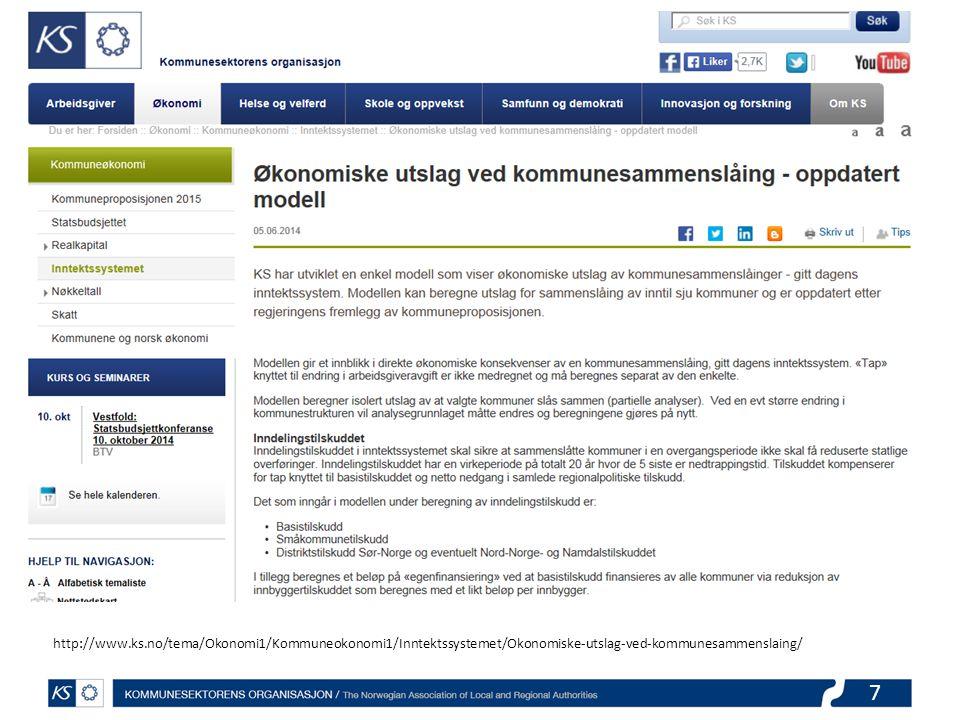 http://www.ks.no/tema/Okonomi1/Kommuneokonomi1/Inntektssystemet/Okonomiske-utslag-ved-kommunesammenslaing/