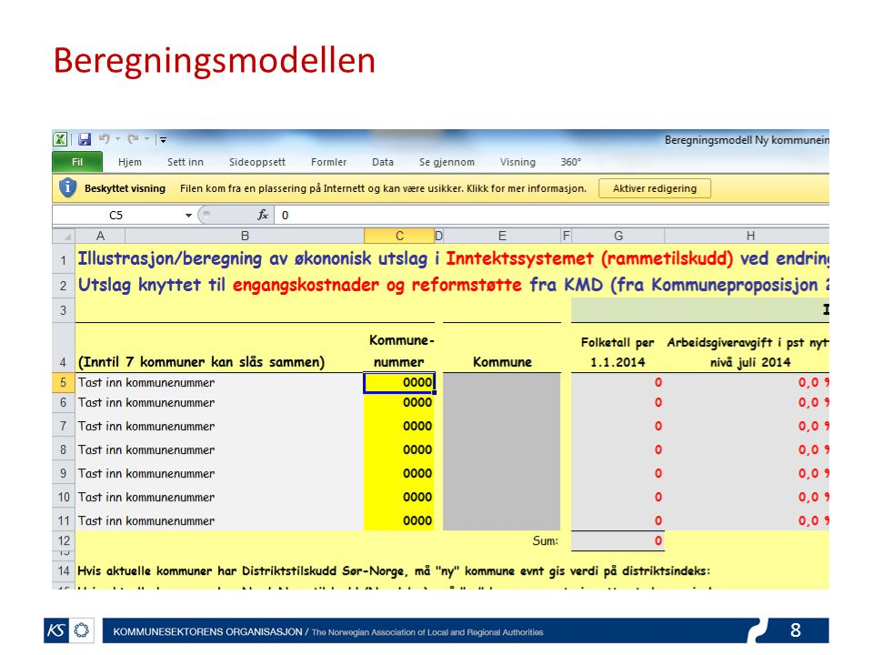 Beregningsmodellen