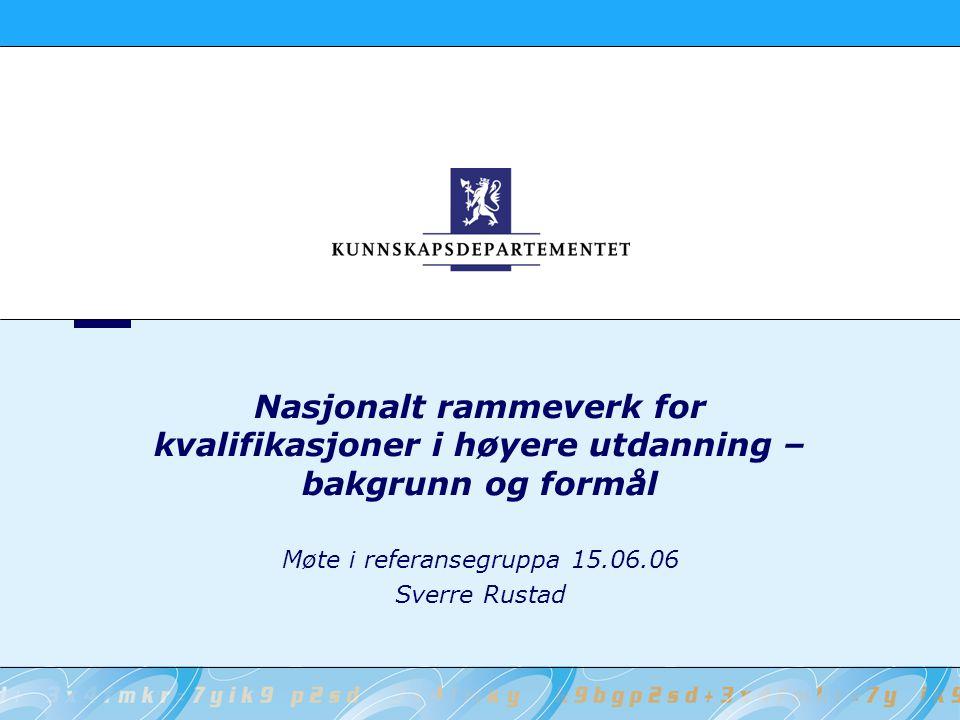 Møte i referansegruppa 15.06.06 Sverre Rustad