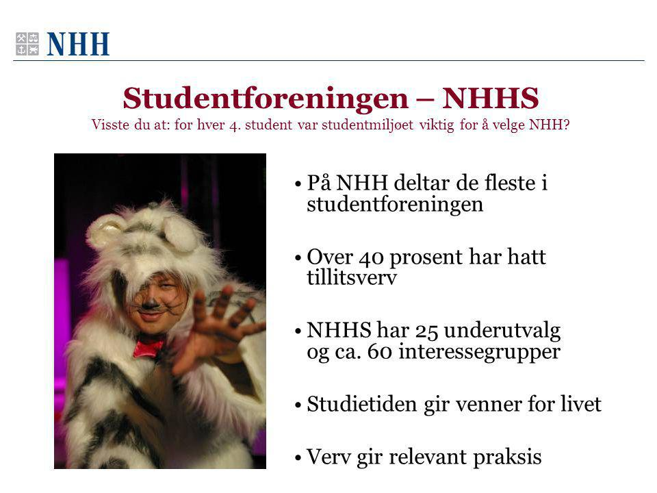 Studentforeningen – NHHS Visste du at: for hver 4