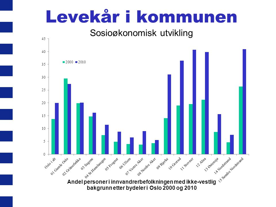 Levekår i kommunen Sosioøkonomisk utvikling