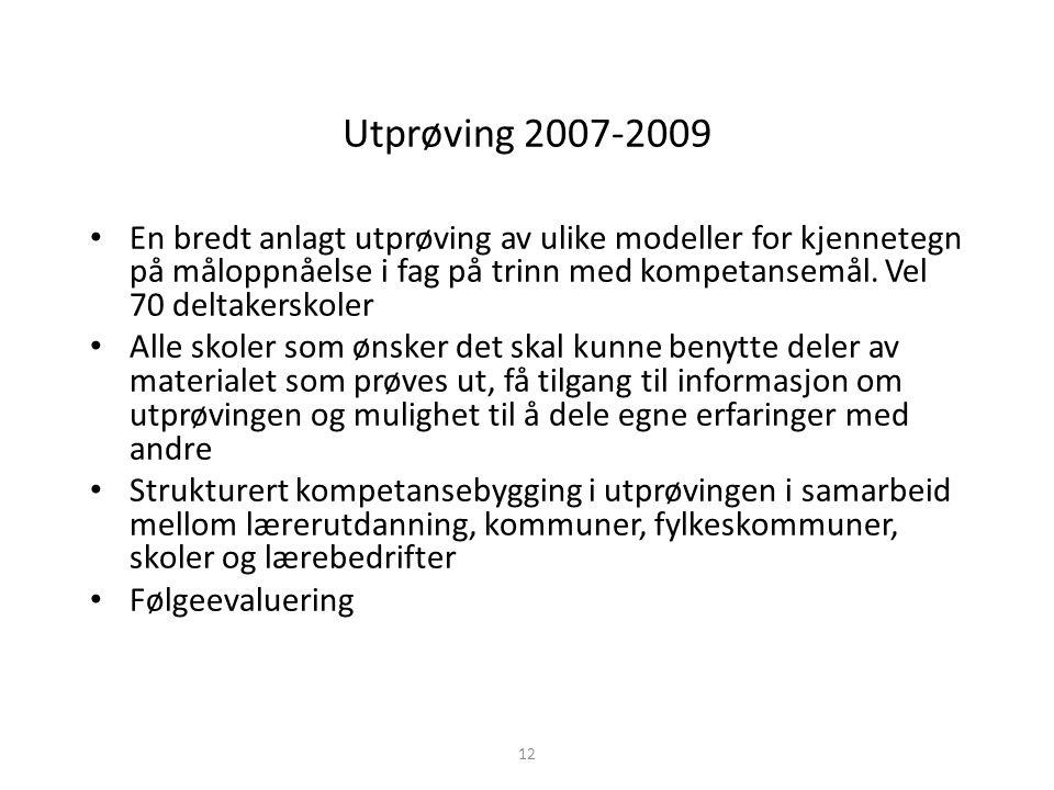 Utprøving 2007-2009