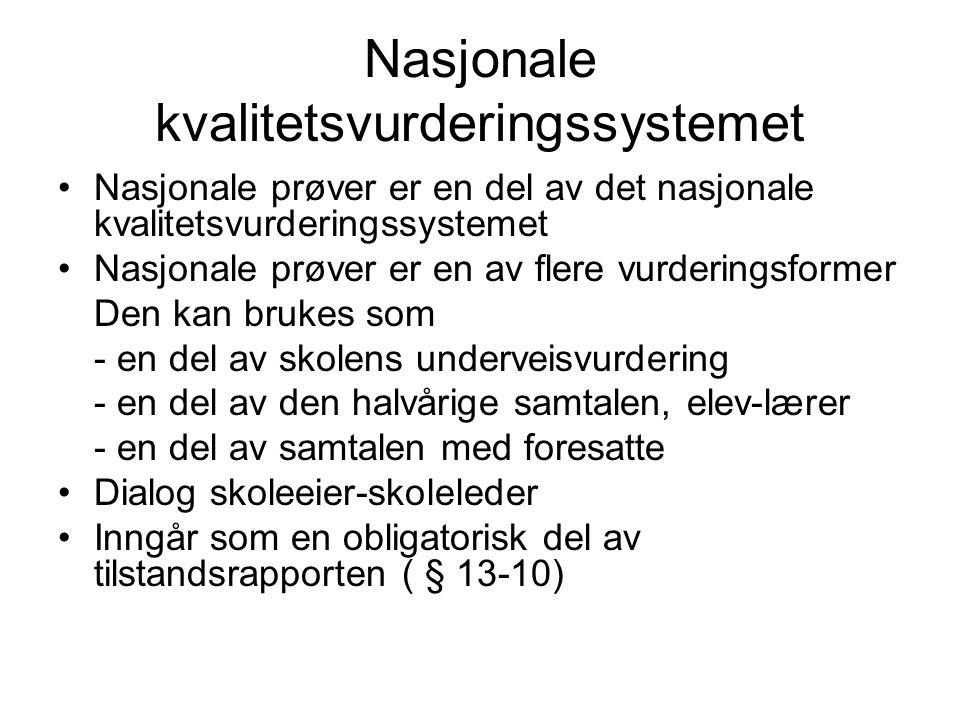 Nasjonale kvalitetsvurderingssystemet