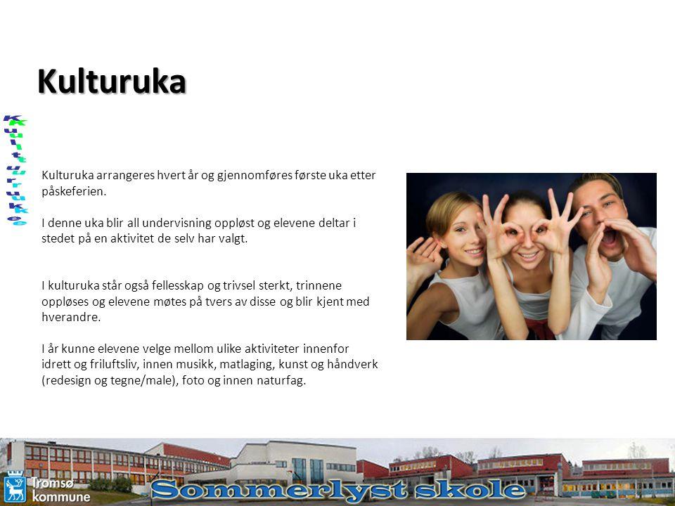 Kulturuka Kulturuke. Kulturuka arrangeres hvert år og gjennomføres første uka etter påskeferien.