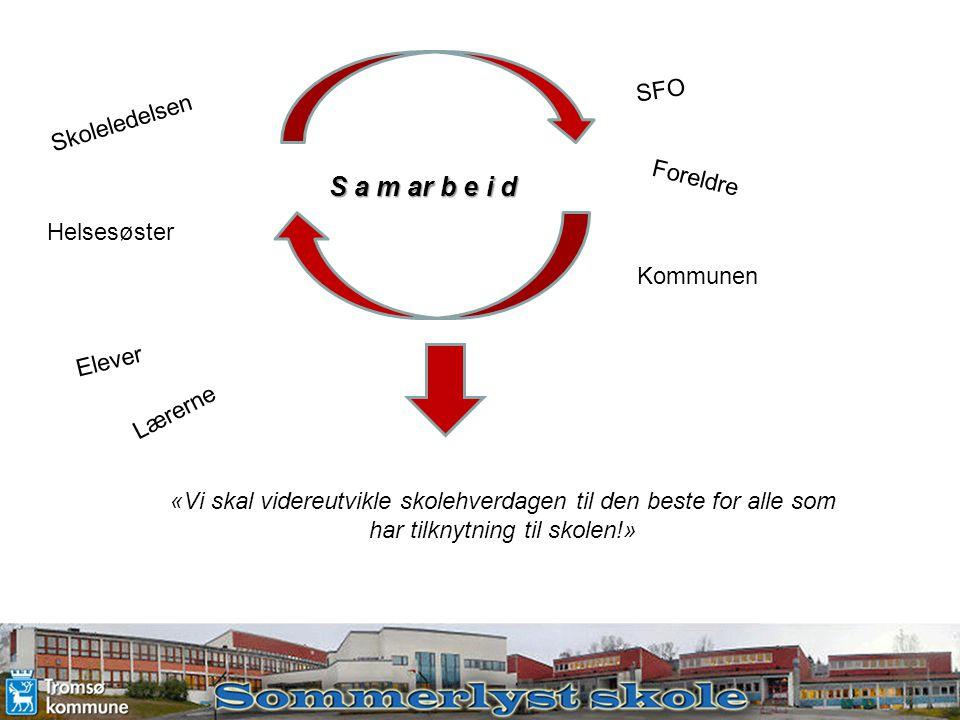 S a m ar b e i d SFO Skoleledelsen Foreldre Helsesøster Kommunen