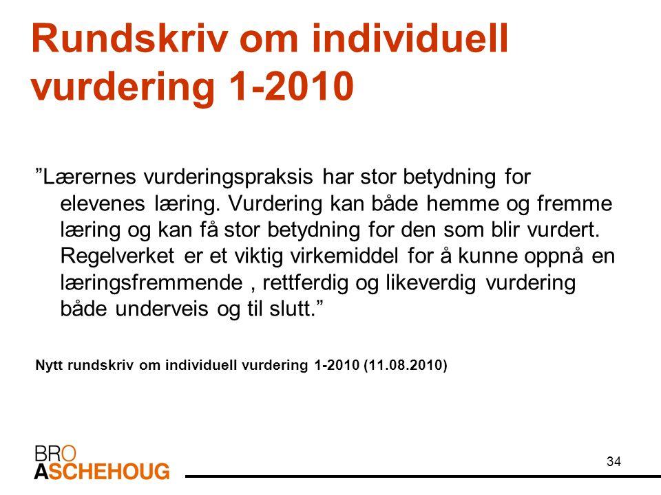 Rundskriv om individuell vurdering 1-2010