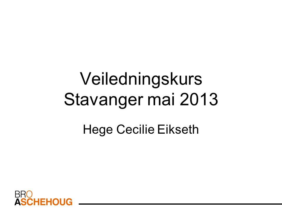 Veiledningskurs Stavanger mai 2013