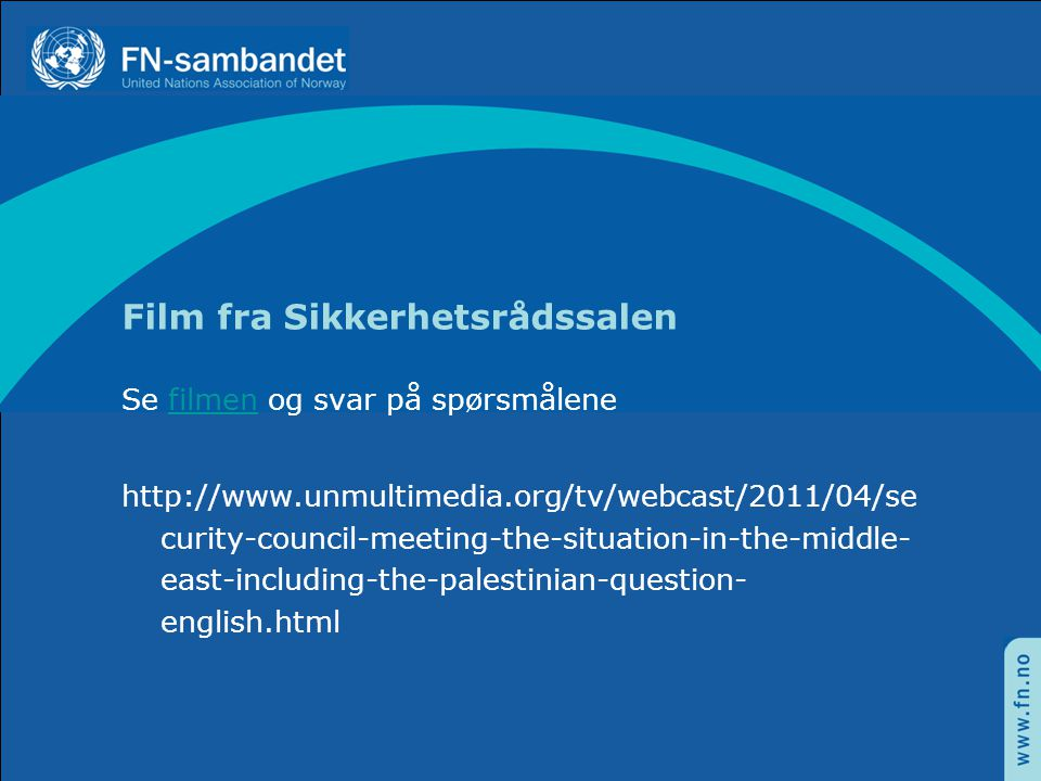 Film fra Sikkerhetsrådssalen