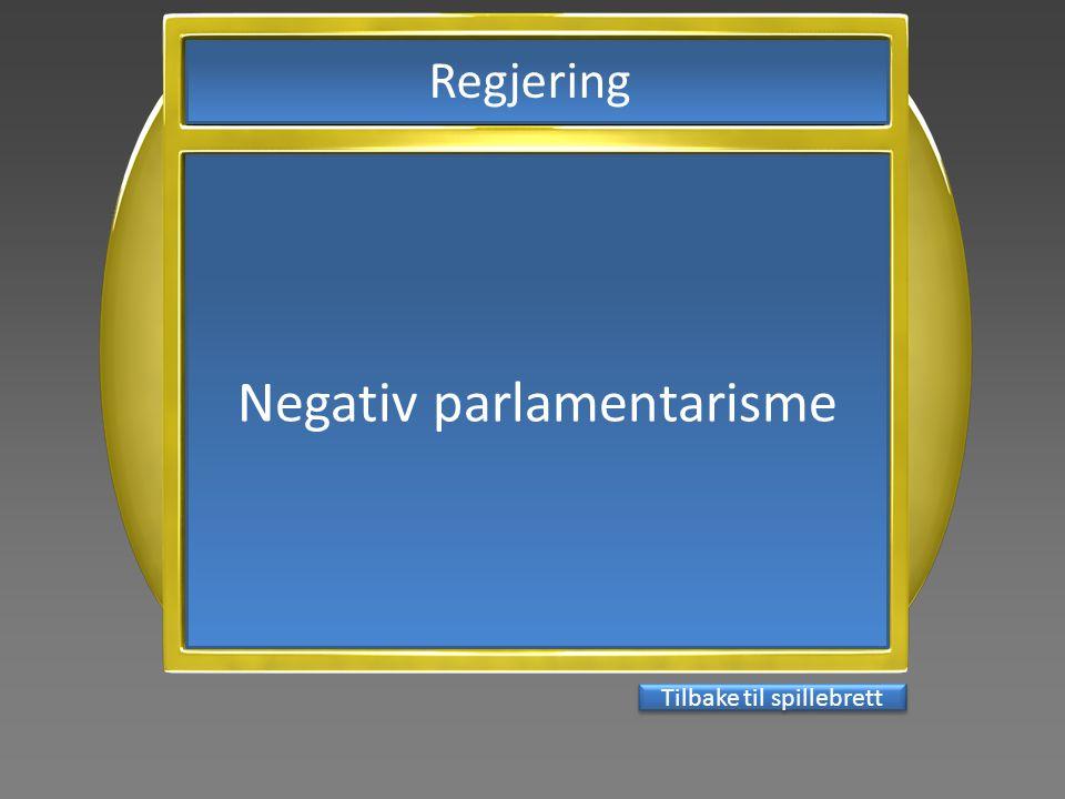 Negativ parlamentarisme