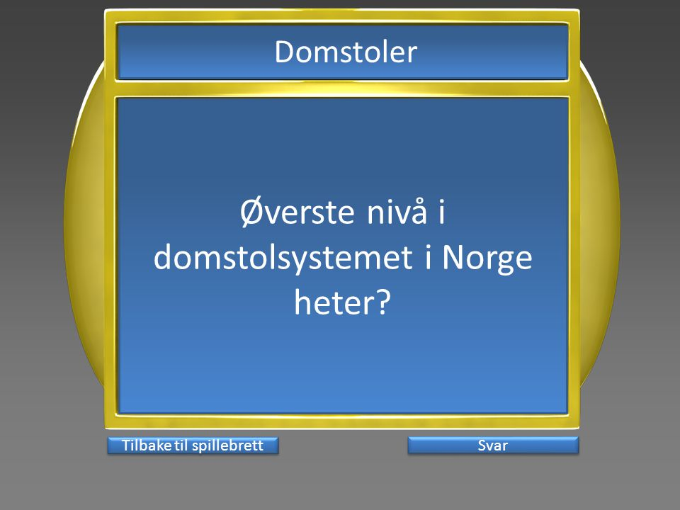 Øverste nivå i domstolsystemet i Norge heter