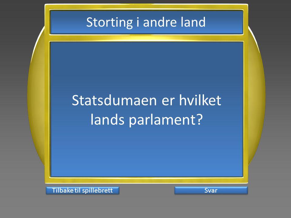 Statsdumaen er hvilket lands parlament