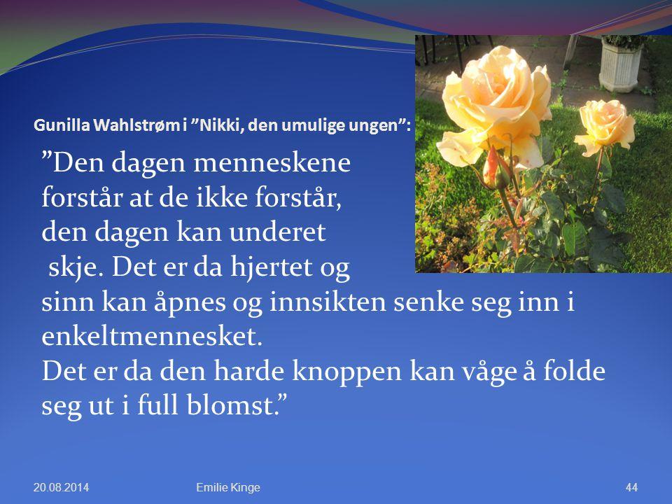 Gunilla Wahlstrøm i Nikki, den umulige ungen :