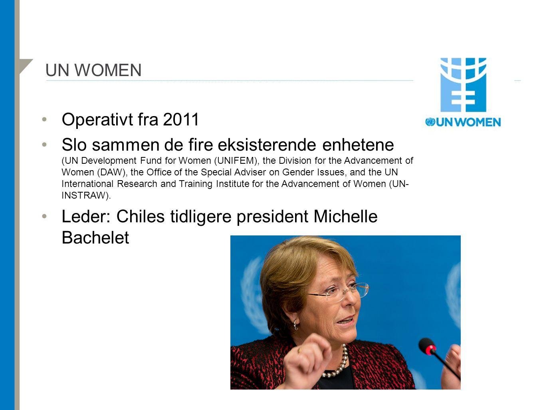 Leder: Chiles tidligere president Michelle Bachelet