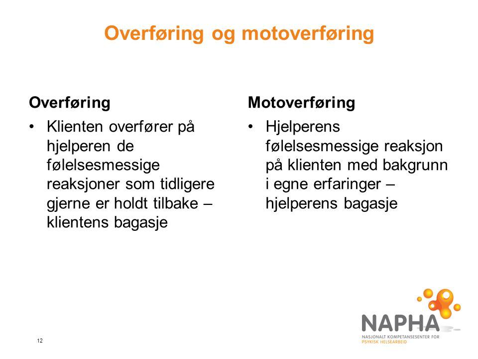 Overføring og motoverføring