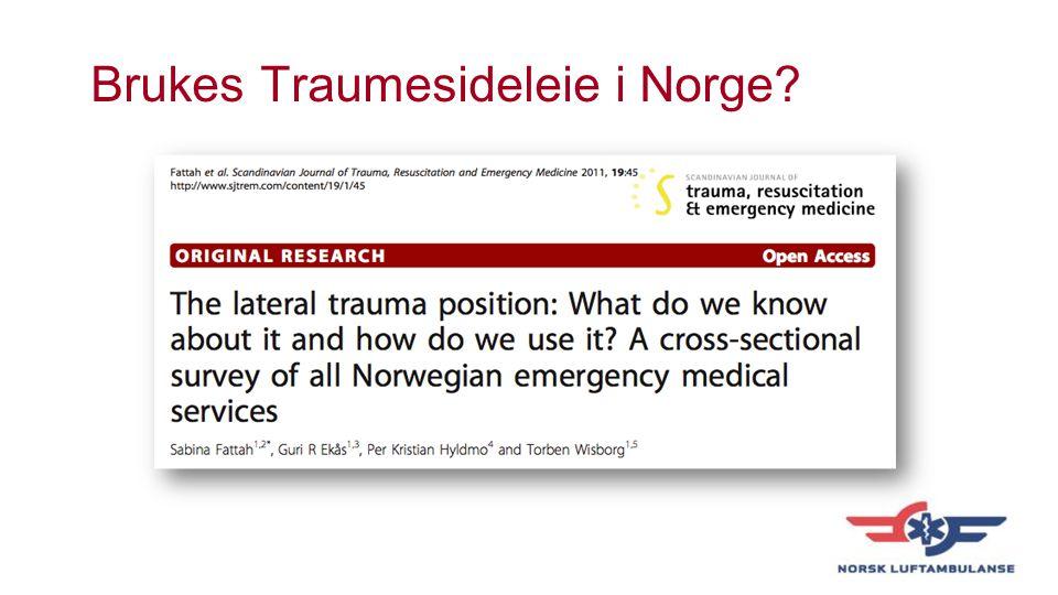 Brukes Traumesideleie i Norge