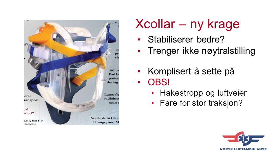 Xcollar – ny krage Stabiliserer bedre Trenger ikke nøytralstilling
