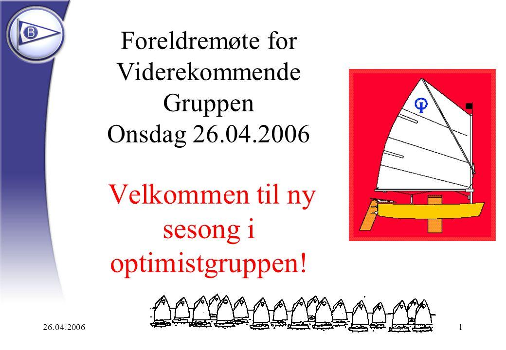 Foreldremøte for Viderekommende Gruppen Onsdag 26. 04