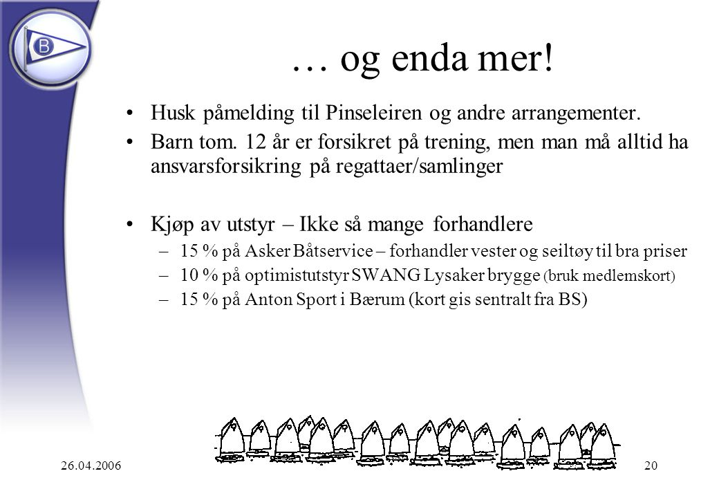 … og enda mer! Husk påmelding til Pinseleiren og andre arrangementer.