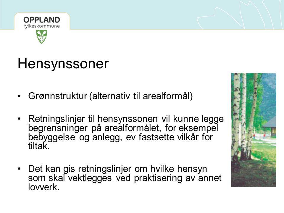Hensynssoner Grønnstruktur (alternativ til arealformål)