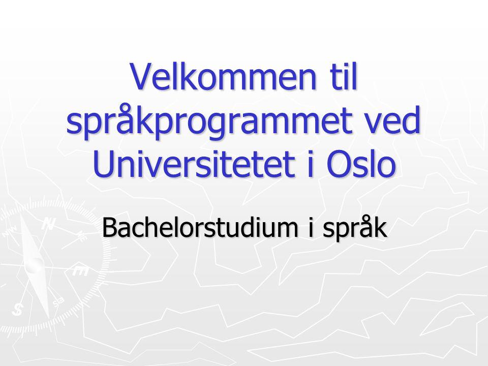 Velkommen til språkprogrammet ved Universitetet i Oslo