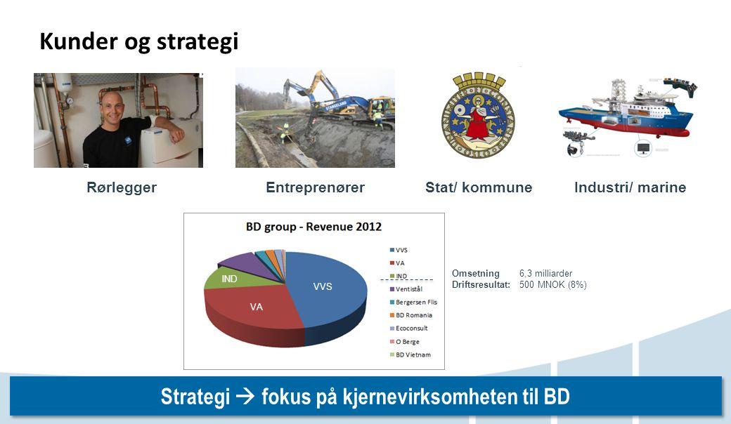 Strategi  fokus på kjernevirksomheten til BD