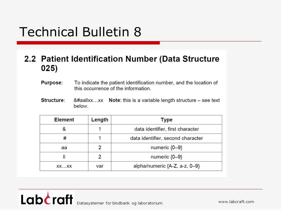 Technical Bulletin 8 www.labcraft.com