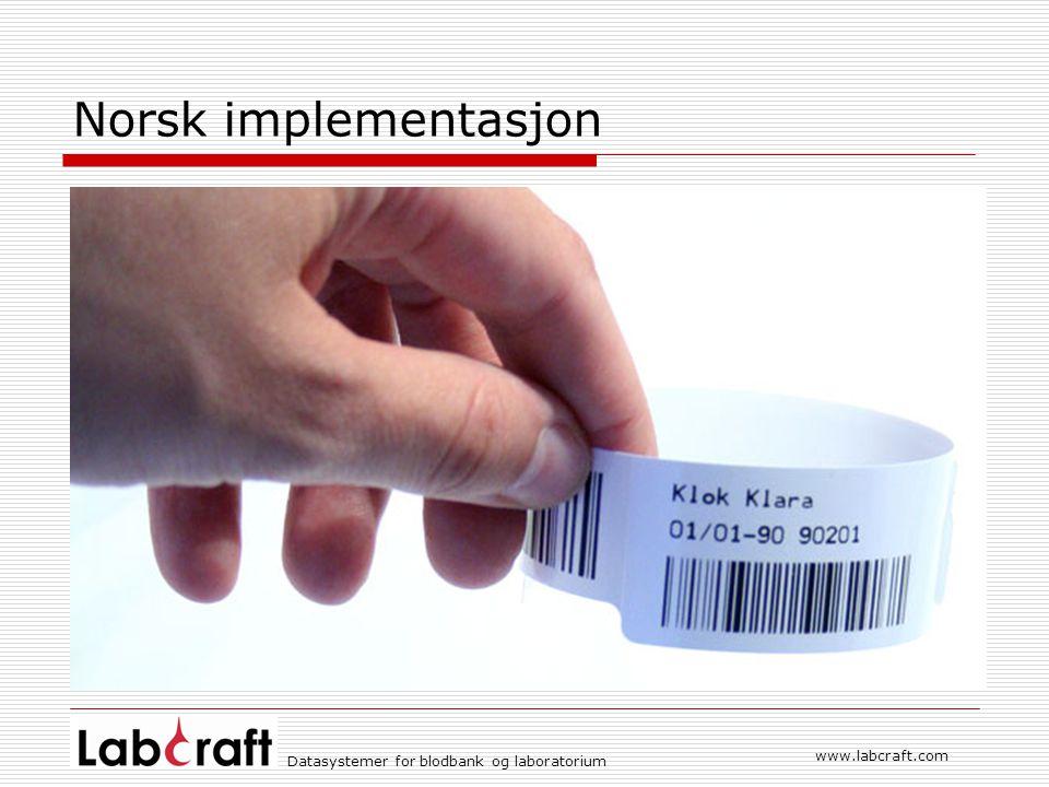 Norsk implementasjon www.labcraft.com