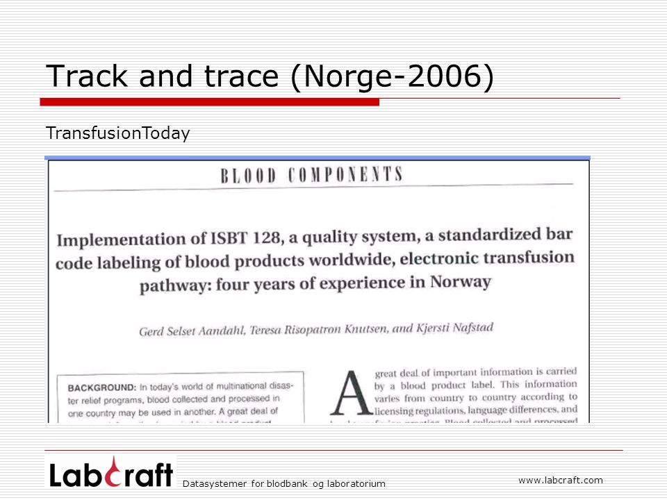Track and trace (Norge-2006)