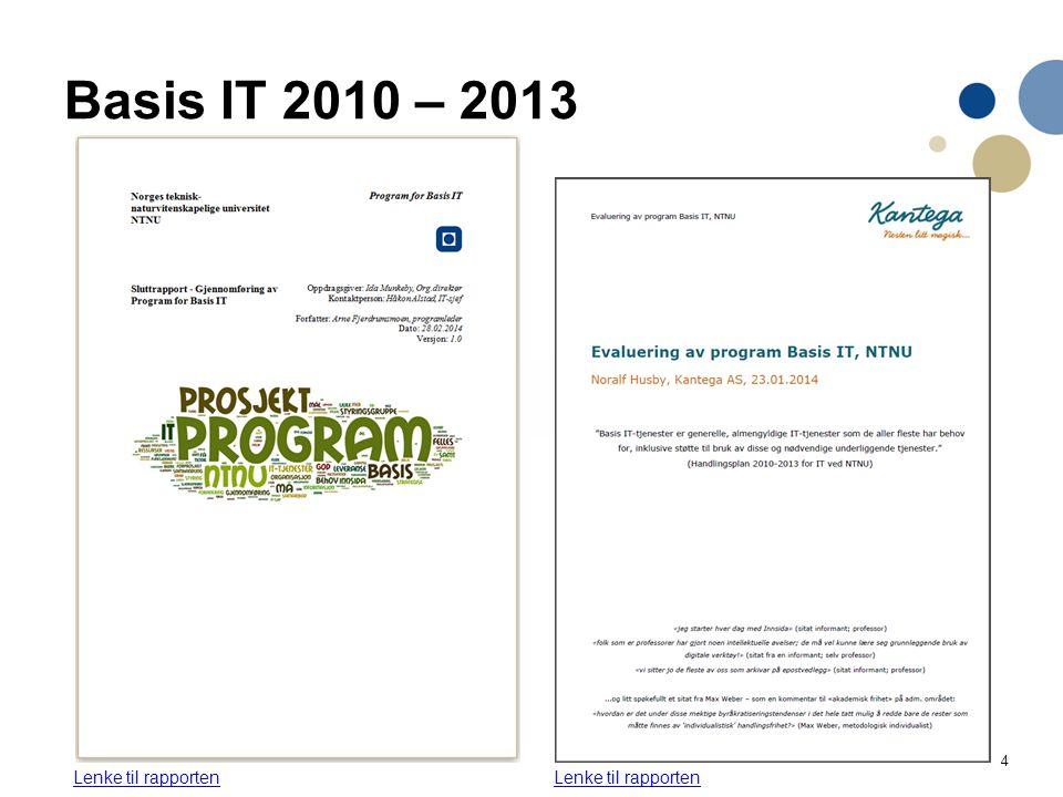 Basis IT 2010 – 2013 Les mer selv her Lenke til rapporten
