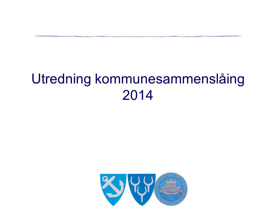 Utredning kommunesammenslåing 2014
