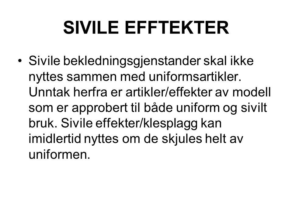 SIVILE EFFTEKTER