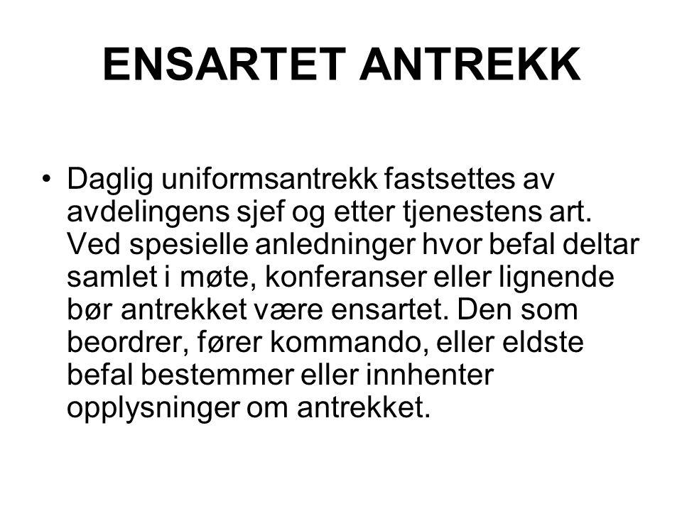 ENSARTET ANTREKK