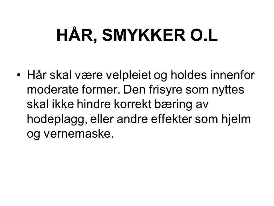 HÅR, SMYKKER O.L