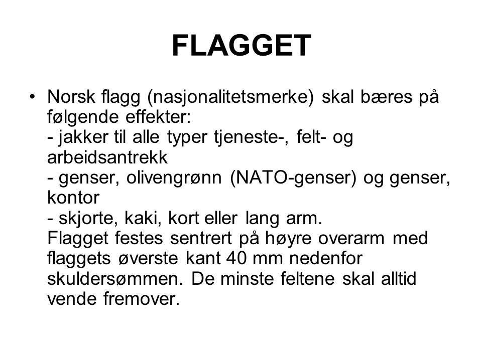 FLAGGET