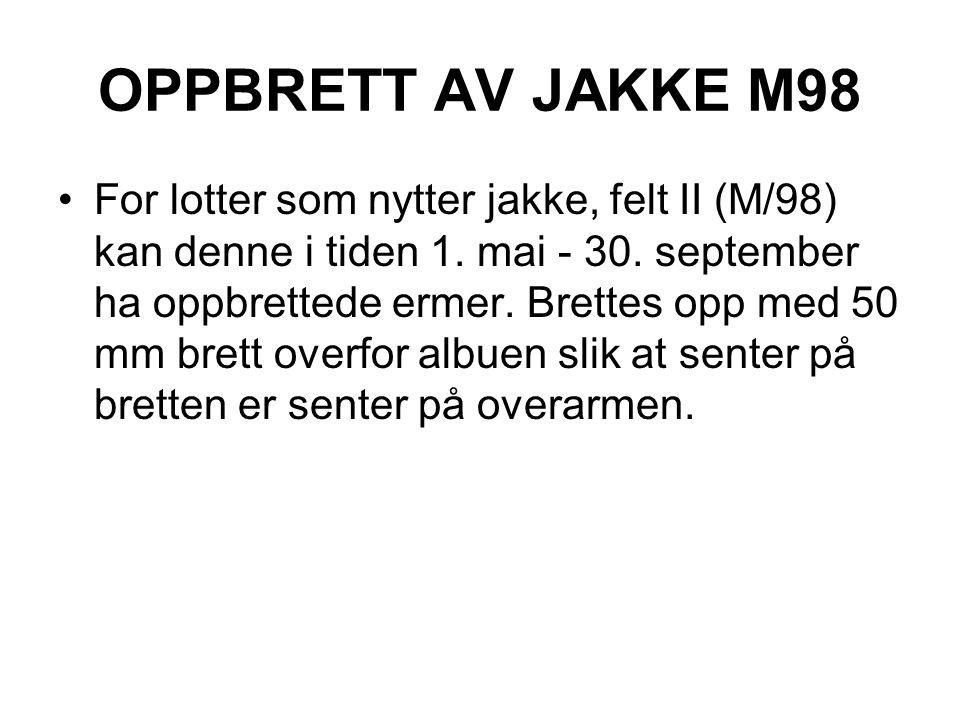 OPPBRETT AV JAKKE M98