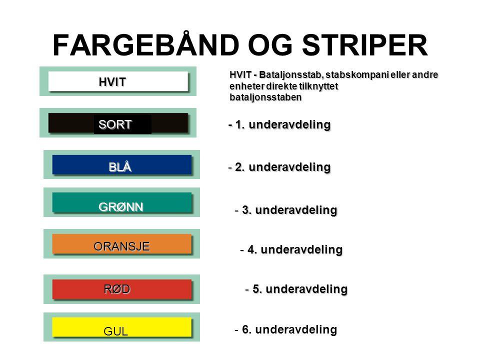 FARGEBÅND OG STRIPER HVIT SORT - 1. underavdeling BLÅ