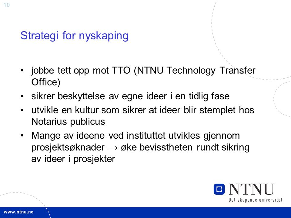 Strategi for nyskaping