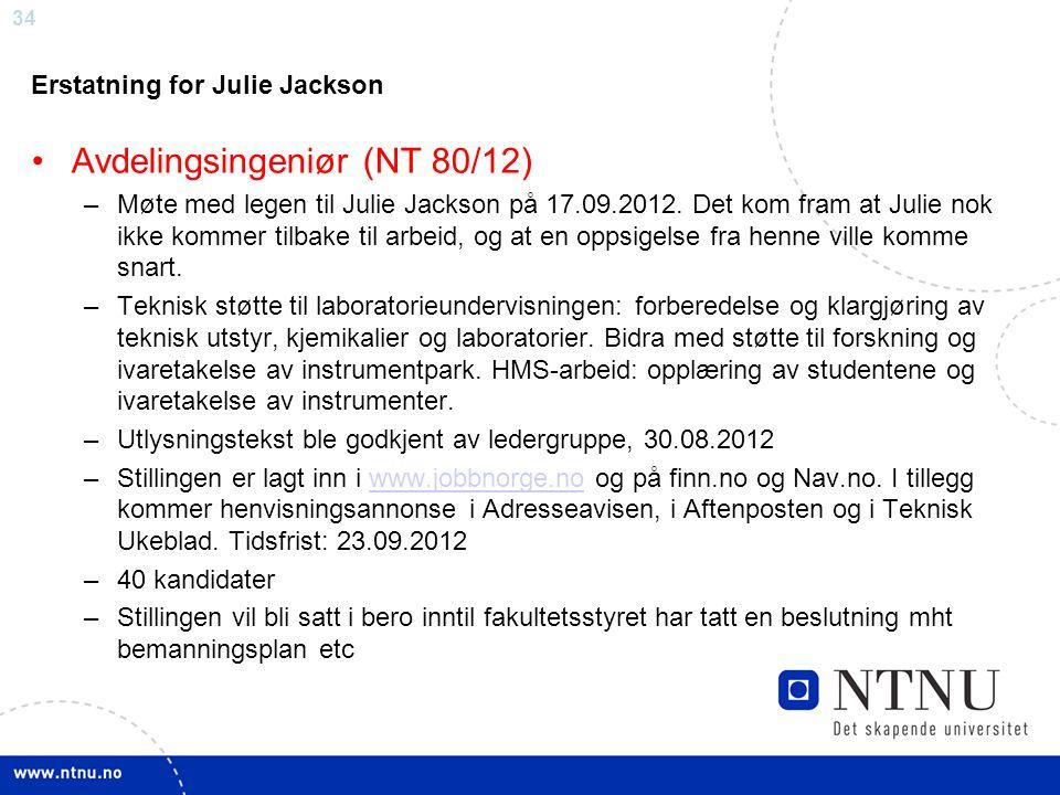 Avdelingsingeniør (NT 80/12)
