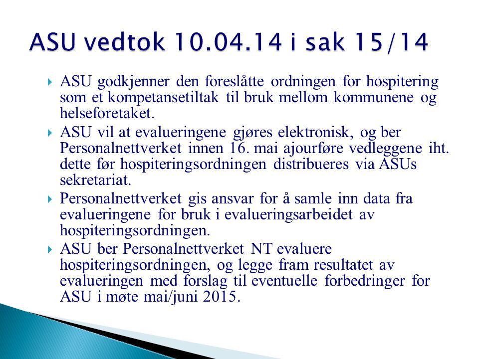 ASU vedtok 10.04.14 i sak 15/14
