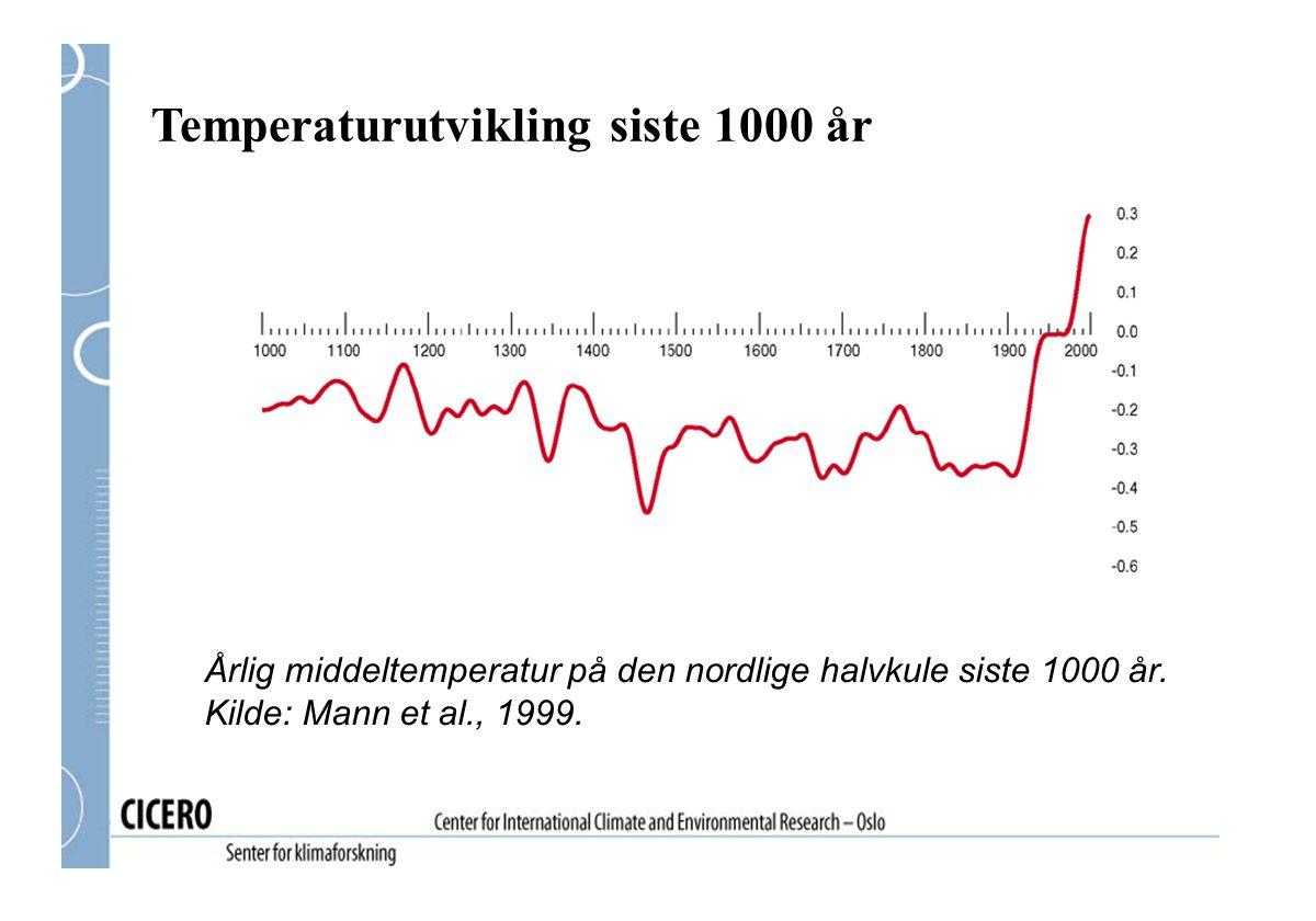 Temperaturutvikling siste 1000 år