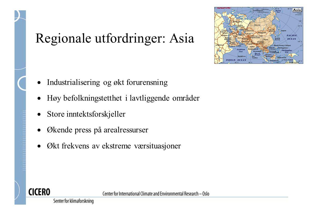 Regionale utfordringer: Asia