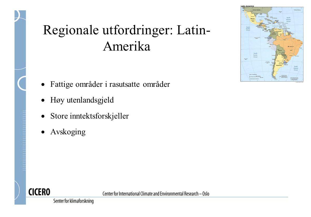 Regionale utfordringer: Latin-Amerika
