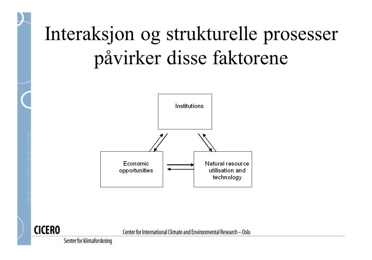 Interaksjon og strukturelle prosesser påvirker disse faktorene