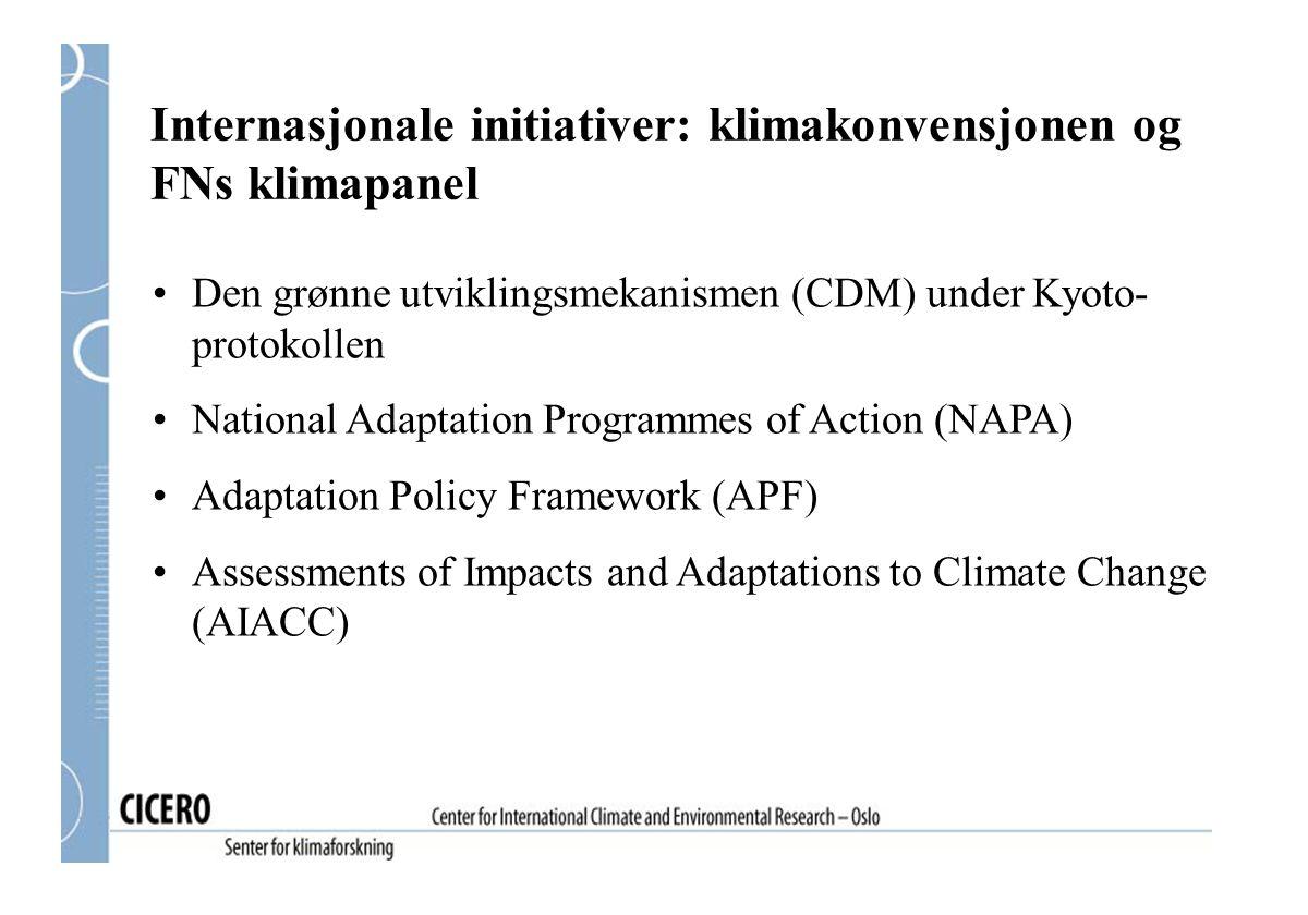 Internasjonale initiativer: klimakonvensjonen og FNs klimapanel