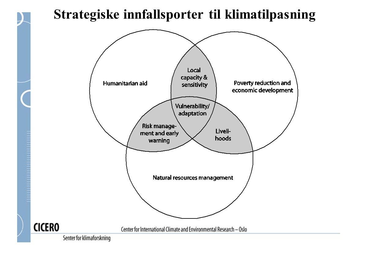 Strategiske innfallsporter til klimatilpasning