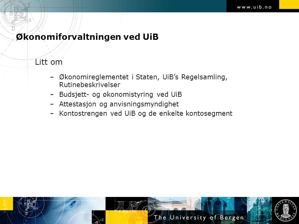 Økonomiforvaltningen ved UiB