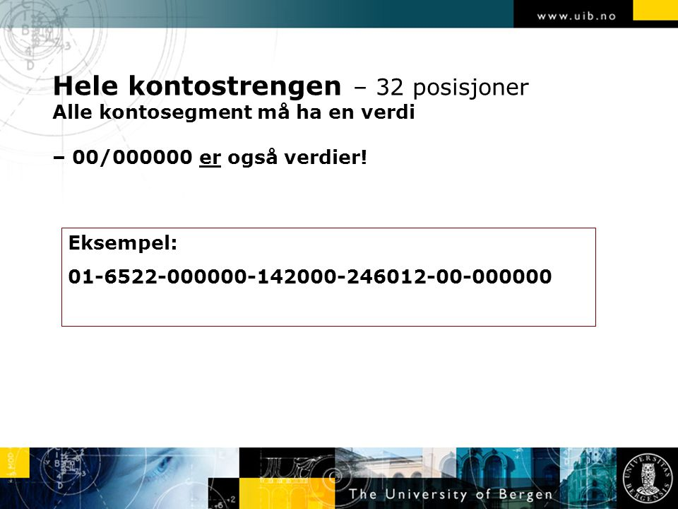 Kode som angir hvilket firma det konteres på.