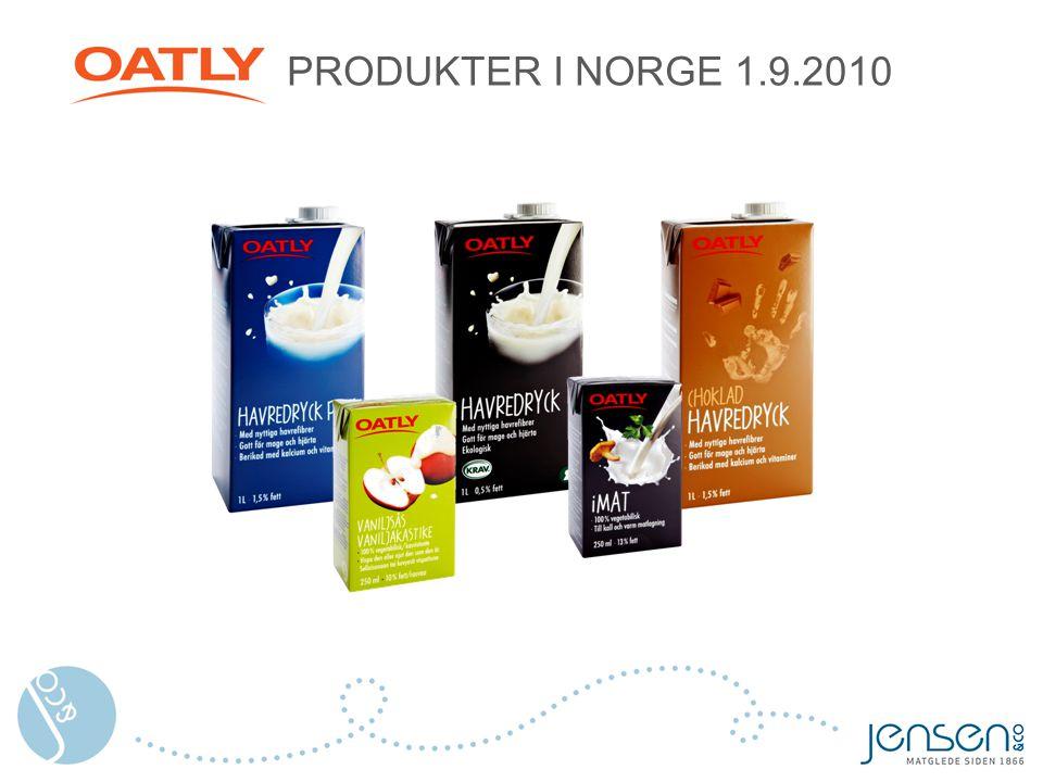 PRODUKTER I NORGE 1.9.2010